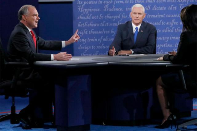 Вдебатах претендентов ввице-президенты США победил уполномоченный Трампа— опрос CNN