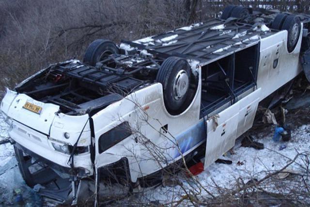 Награнице областей перевернулся автобус сульяновскими школьниками
