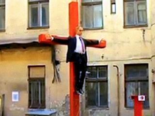 В Европе распяли Путина