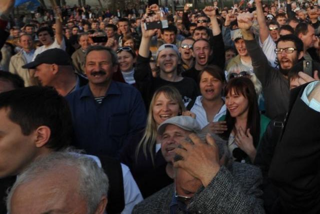 ВАстрахани прошел митинг пожилых людей иветеранов, выступающих против отмены льгот