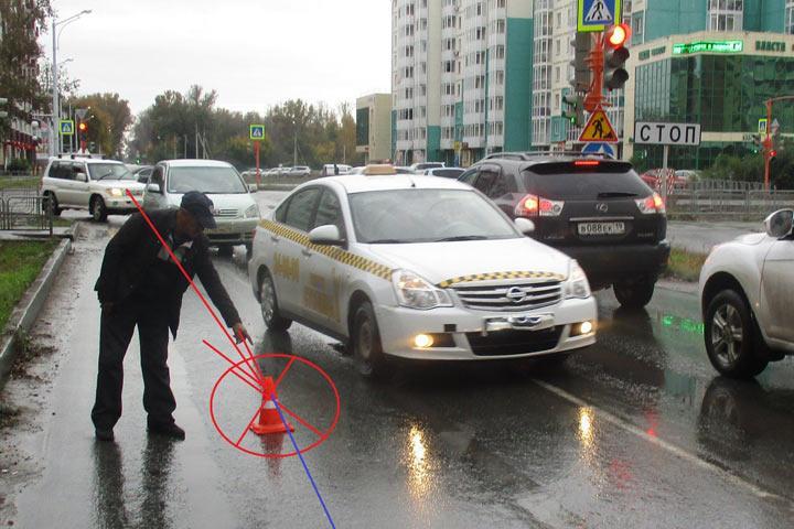 ВХакасии разыскивают скрывшегося сместа ДТП водителя