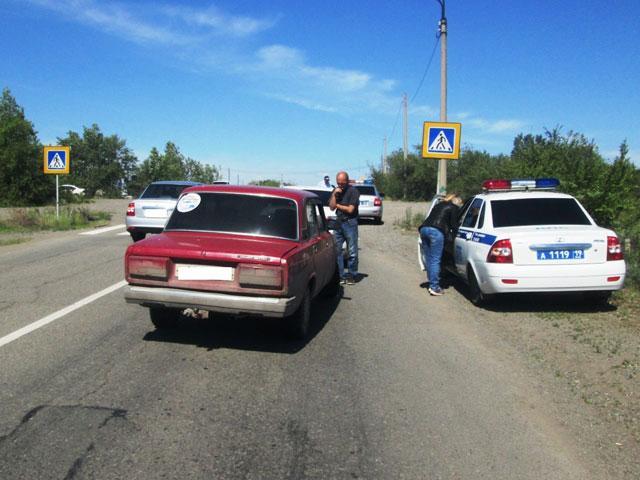 Пьяная автоледи в Хакасии въехала в иномарку на переходе