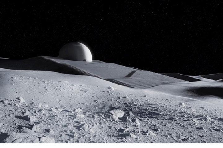 Всети интернет появился ролик полета НЛО над Луной