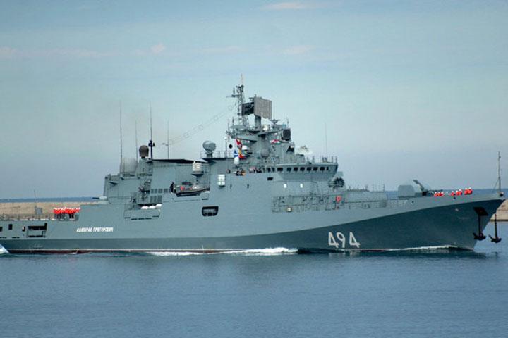«Адмирал Григорович» присоединился кгруппировке ВМФРФ вСредиземном море