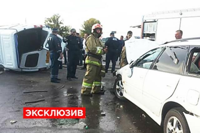 ВХакасии вДТП пострадали 10 человек