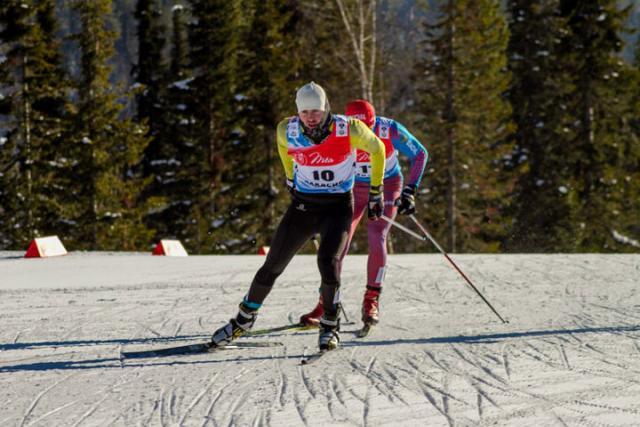 Вологжанка Анна Нечаевская— победитель этапа Континентального кубка полыжным гонкам
