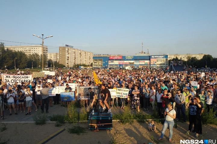 Митинги за отставку губернатора Усса будут бесконечными