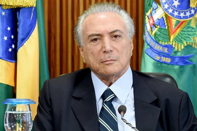 Мишел Темер сегодня займёт должность президента Бразилии