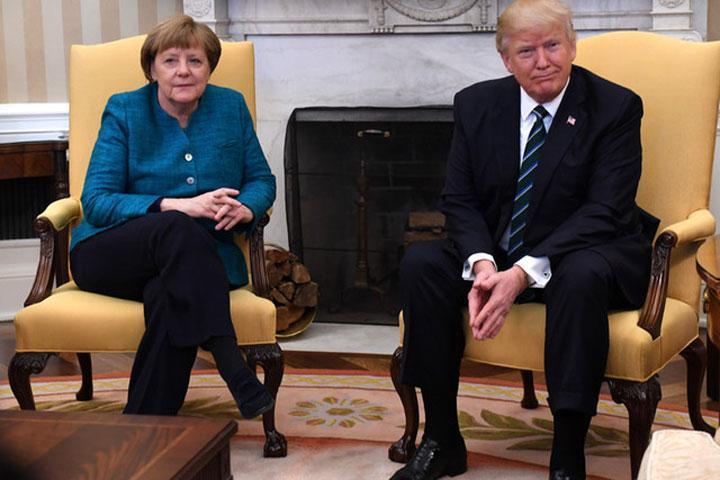 Белый дом пояснил , почему Трамп непожал руку Меркель
