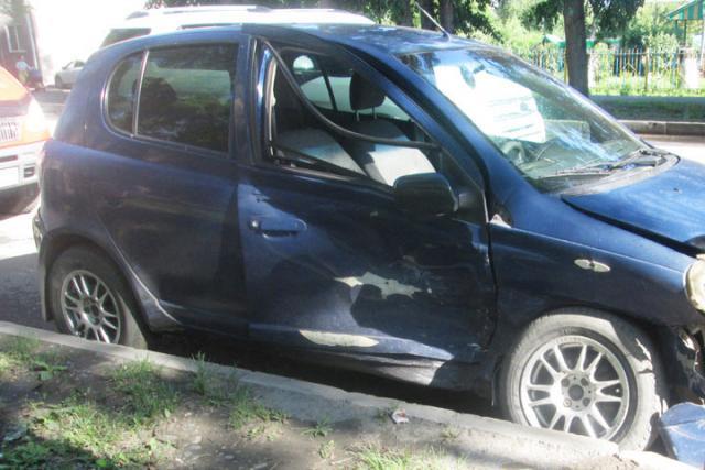 В Хакасии водитель-нарушитель получил лишь ушибы