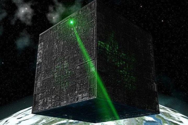 Уфологи увидели около Солнца НЛО вформе куба