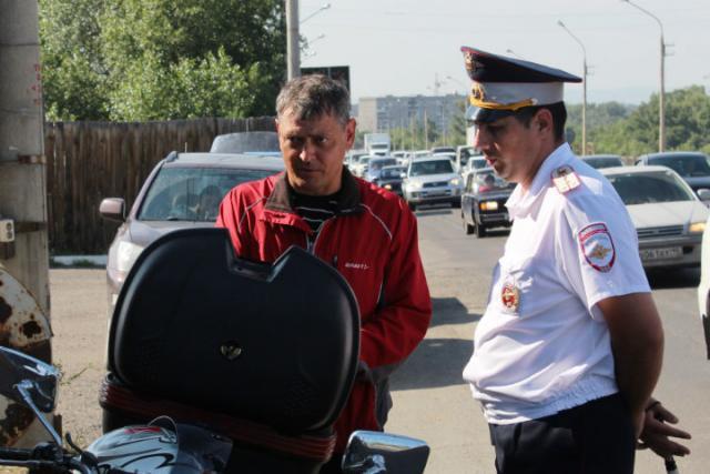 В Хакасии под прицел ГИБДД попали водители мотоциклов