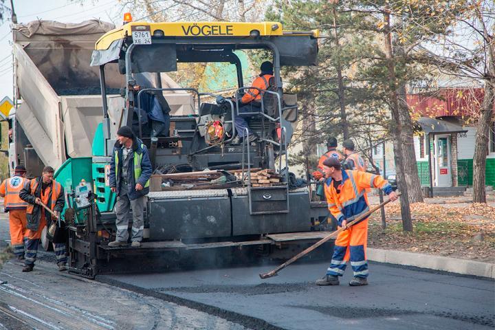 Приостановленный ремонт улиц в Черногорске возобновили